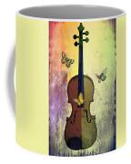 The Butterflies And The Violin Coffee Mug
