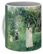 The Butterfly Hunt Coffee Mug by Berthe Morisot