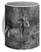The Calm Of A Moose Bw Coffee Mug