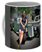 The Car Hop And The Street Rod Coffee Mug