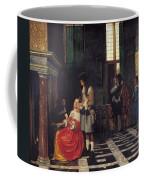 The Card Players Coffee Mug by  Pieter de Hooch