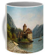 The Castle Of Chillon Evening Coffee Mug by Gustave Courbet