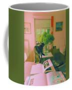 The Cat And The Hydrangea Coffee Mug