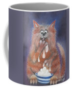 The Cat Who Got The Cream Coffee Mug