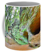 The Caves At Old Man's Gorge Trail Hocking Hills Ohio Coffee Mug
