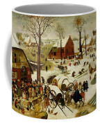 The Census At Bethlehem Coffee Mug by Pieter the Younger Brueghel