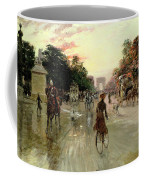 The Champs Elysees - Paris Coffee Mug by Georges Stein