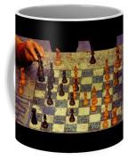 The Chess Game, New York City C. 1977 Coffee Mug