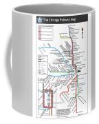 The Chicago Pubway Map Coffee Mug