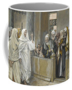The Chief Priests Ask Jesus By What Right Does He Act In This Way Coffee Mug
