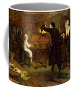The Child Handel Discovered By His Parents Coffee Mug by Margaret Isabel Dicksee