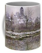 The Church At Vetheuil Under Snow Coffee Mug by Claude Monet
