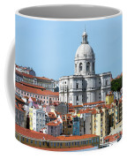 The Church Of Santa Engracia And Rooftops -- Lisbon Coffee Mug