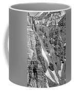 The Climb To Abbot's Hut Bw Coffee Mug