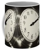 The Clock At Grand Central Coffee Mug