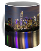 The Colorful Neon Lights On The Austin Skyline Shine Bright Coffee Mug