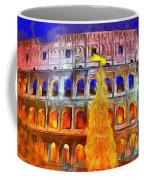The Colosseum And Christmas  - Van Gogh Style -  - Da Coffee Mug