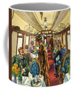 The Comfort Of The Pullman Coach Of A Victorian Passenger Train Coffee Mug