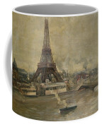 The Construction Of The Eiffel Tower Coffee Mug by Paul Louis Delance