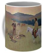 The Conversation Coffee Mug by Frederic Remington