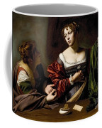 The Conversion Of The Magdalene Coffee Mug by Michelangelo Merisi da Caravaggio