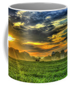 The Cornfield Dawn The Iron Horse Collection Art  Coffee Mug