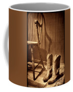 The Cowgirl Boots And The Old Chair Coffee Mug