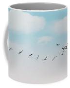The Cranes Flew Over The Moon Coffee Mug