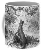 The Crow And The Fox Coffee Mug by Gustave Dore