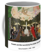 The Curtain Sketch For The Free Theater In Moscow Coffee Mug