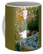 The Dam At Peaks Of Otter Coffee Mug