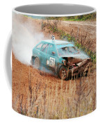 The Damaged Car In A Smoke Coffee Mug