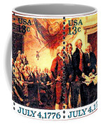 The Declaration Of Independence  Coffee Mug by Lanjee Chee