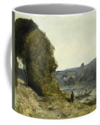 The Departure Of The Boatman Coffee Mug