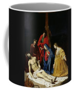 The Descent From The Cross Coffee Mug by Nicolas Tournier