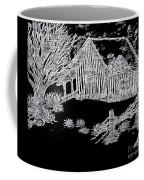 The Deserted Cabin At Night Coffee Mug
