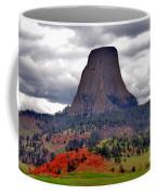 The Devils Tower Wy Coffee Mug by Susanne Van Hulst