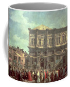 The Doge Visiting The Church And Scuola Di San Rocco Coffee Mug