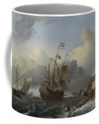 The Eendracht And A Fleet Of Dutch Men Of War Coffee Mug