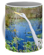 The Egret And The Dragonfly Coffee Mug