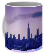 The Empire State Building In New York At 6 A. M. In January Coffee Mug