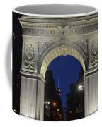 The Empire State Building Through The Washington Square Arch Coffee Mug