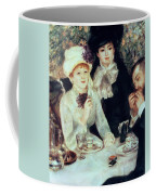 The End Of Luncheon Coffee Mug by Pierre Auguste Renoir