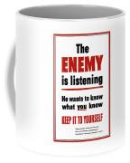 The Enemy Is Listening - Ww2 Coffee Mug