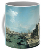 The Entrance To The Grand Canal And The Church Of Santa Maria Della Salute Coffee Mug by Canaletto