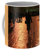 The Entrance To The Western Wall At Night Coffee Mug