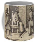 The Envoy Of Tuscany Thanking The Queen [verso] Coffee Mug