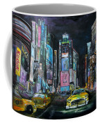 The Evening Of Time Square Coffee Mug
