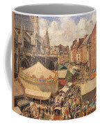 The Fair In Dieppe Coffee Mug by Camille Pissarro