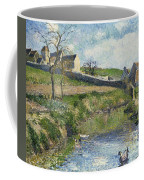 The Farm At Osny Coffee Mug by Camille Pissarro